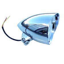 "Chrome Bullet Tri Bar 5.75"" Headlight Harley Sportster Dyna Softail Chopper FXEF"