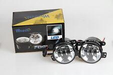 WINUNITE Chrome 4 Inch LED Fog Light for Jeep Wrangler JK 4'' Fog Passing Lights