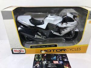 MAISTO 20-12028 KAWASAKI NINJA ZX-14R BIKE MOTORCYCLE 1/12 WHITE