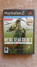 metal gear solid 3 subsistence ps2 / fr intégral / complet / envoi gratuit