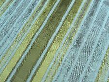 Zoffany Upholstery Fabric Brook Street 0.5m Citrus Velvet Stripe Design 50cm