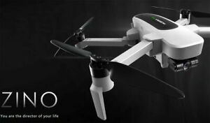 HUBSAN ZINO FOLDING DRONE 4K w/EXTRA BATTERY, CHARGER, PROPELLERS AND CARRY BAG