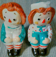 Vintage- 1970's Raggedy Ann and Andy Bookends- The Bobbs Merrill Com.- Lot of 2
