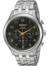 SEIKO SSC563,Men's solar chronograph,stainless steel case,date,100m WR,SSC563