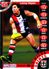 2013 TeamCoach 3D Best & Fairest Lenny Hayes St Kilda Saints Team Coach