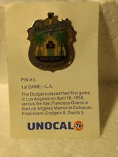 Unocal 76 Dodgers First Game In Los Angeles 1958 Collectible Pin pin3112