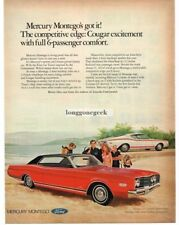 1968 Mercury Montego and Cyclone Fastback Automobile Car 1967 Vtg Print Ad