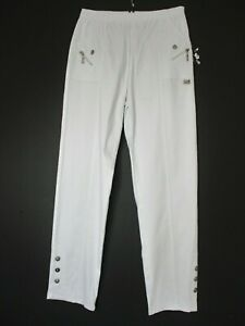 Cotton Mix Ladies Stretchy Trousers  Full Length Pockets  Sizes:12 14 16 18 20