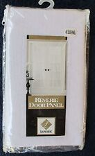 "Lorraine Reverie Semi-Sheer Snow Voile Door Panel Curtain 60"" X 40"" White New"