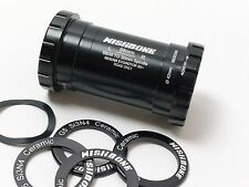mr-ride Ceramic BB Bottom Bracket BB30 frame adaptor BB386 EVO crank set Black