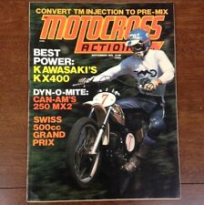MOTOCROSS ACTION SEPTEMBER 1975 KAWASAKI KX400 CAN-AM MX-2 250 500cc GP NATS VMX