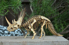 TRICERATOPS DINOSAUR SKELETON MODEL laser cut self assembly wood toy