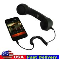 US Retro Telephone Cell Phone Handset Receiver Radiation Proof For Mobile Phone