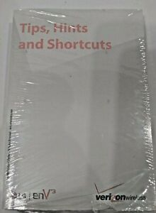 SEALED Verizon LG ENV 3 Cell Mobile Phone Tips, Hint, and Shortcuts Book Manual