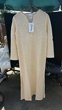 Gottex Viewpoint Size M Crochet Beigh Cover Up Or Lounger New With Tags 23-300