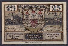Notgeld Strasburg 25 Pfennig 1921, Uckermark