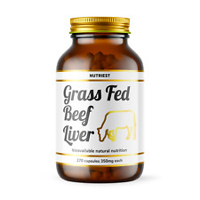 Grass fed Desiccated Beef Liver (270 capsules) - Vitamin A, B12, Iron - Nutriest