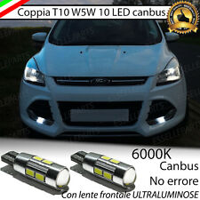 COPPIA LUCI POSIZIONE 10 LED FORD KUGA MK2 T10 W5W CANBUS NO ERROR