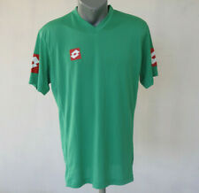 Lotto Mens Sport T-Shirt Green Size XL V-Neck Activewear Top Training Jersey