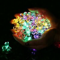 Colorful100 LED Cherry Flower String Light Blossom Gift Crystal Coat Party