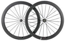 700C Clincher  50mm Carbon Wheelset Novatec 291 Hub Racing Wheels No Sticker