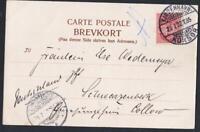 DANEMARK OLD POSTCARD sea obliteration  KJOBENHAVN KORSOR  YEAR 1902