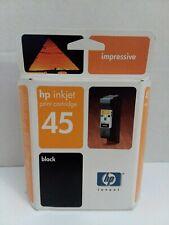 HP 45 Inkjet Print Cartridge Black 51645A Genuine Unopened Expired Aug. 2005