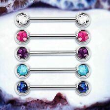 BASIC TITANIUM Nipple Bar Silver Nipple Rings Simple Nipple Jewellery Essentials