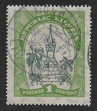 Liberia 1923 Local Motifs used 1c (DX4)