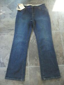 Women's Lands' End Original Fit Modern Waist Boot Cut Jeans 10 NWT *