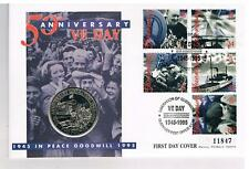 Mercury - 1995 - VE Day Liberation of Guernsey - £2 BU Coin First Day Cover.
