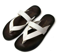 Summer Mens Beach Outdoor Leather Sandals Strap Shoes Anti-slip Slippers US10