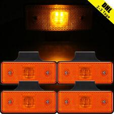 4x 4LED Seitenmarkierungsleuchte LKW Begrenzungsleuchten Anhänger E8 Gelb 12V