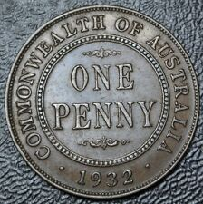 1932 COMMONWEALTH OF AUSTRALIA - ONE PENNY - COPPER - George V - Nice