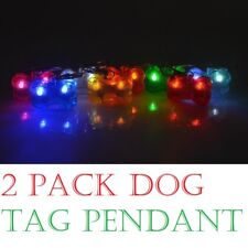 (paquete de 2) LED Collar de Perro Etiqueta Colgante Luz Parpadeante de Seguridad de la noche hasta Forma De Hueso
