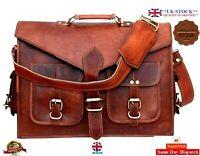 Men's Leather Bag Business Messenger Laptop Large Shoulder Briefcase Satchel bag