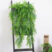 Simulation Hanging Plant Fake Vine Leaf Greenery Garland Party Wedding Decor CB
