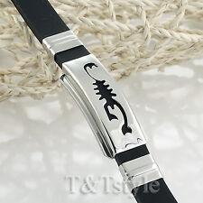 c459d16d8 UNIQUE T&T 316L Stainless Steel SCORPION Bracelet NEW