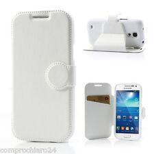 Funda Blanca Cartera Ecopiel Samsung Galaxy S4 IV mini i9190 Tapa del tirón