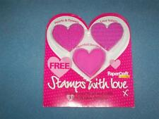 Set/3 Different Heart Stamps-Valentines-Mother's Day-Scrapbooks-Cardmaking-NRFP