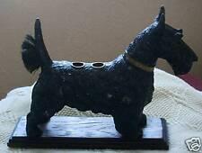 More details for large metal scottish terrier dog desk pen wipe scottie