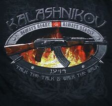 NEW Tactical Kalashnikov AK-47 Black Short Sleeve 100% Cotton T-SHIRT Sz X-LARGE
