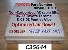C35644 AC CABIN FILTER for 06-15 Toyota Tacoma,Dodge Dart,Vibe SUPER FAST SHIP