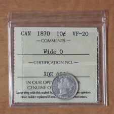 Canada - 1870 Wide 0 - 10 cents - ICCS VF20 - #2852