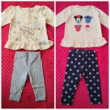 Disney Minnie Mouse Bambi Baby Girl outfit set size 9-12 months