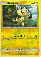 POKEMON SUN & MOON GUARDIANS RISING CARD: HELIOPTILE - 43/145 - REVERSE HOLO