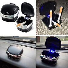 Travel Car Truck Cigarette Ashtray Stand Dashboard Holder LED Detachable Base