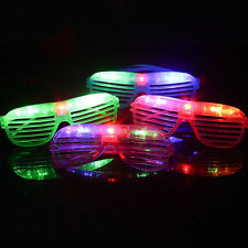Trendy Light Up Shutter Glasses LED Shades Flashing Rave Wedding Party Supplies