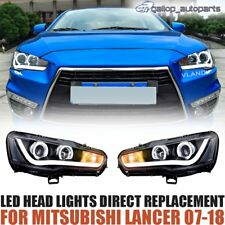 LED DRL Projector Headlights Fits MITSUBISHI LANCER 2008 2009 2010 2011 2012 -17