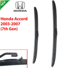Pair Front Wndshield Windscreen Wiper blades for Honda Accord 2003-2007 7th Gen